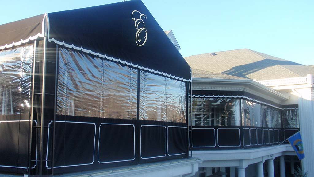 These Roll Up Curtains Are Designed Using A Rope And Pully System And Can  Be Easily Pulled Up Or Down. They Can Be Fabricated Using Any Combination  Of Clear ...