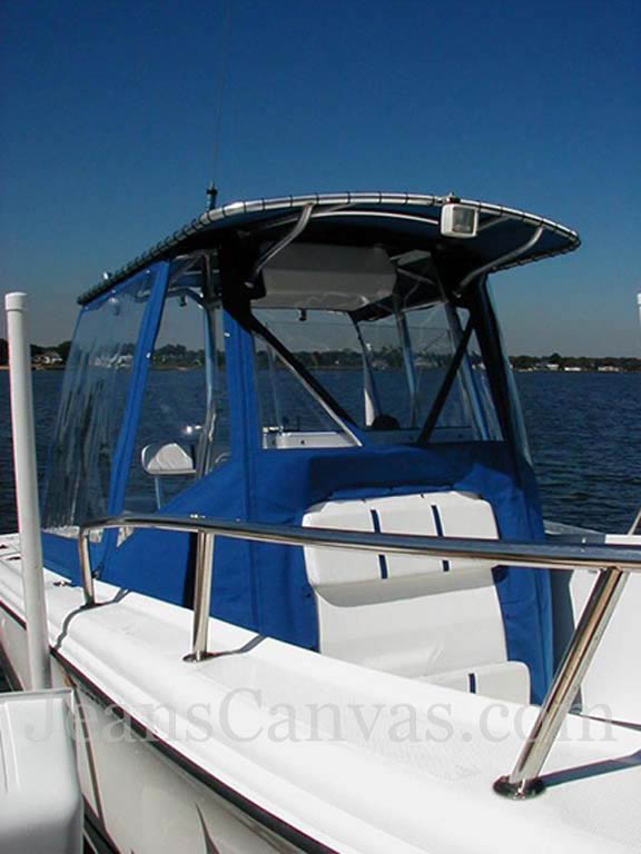 Center Console Boat >> Lace-On Tops And T-Top Enclosures