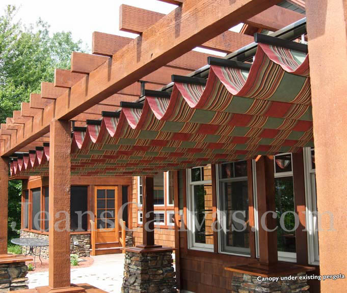 custom pergola canvas canopy