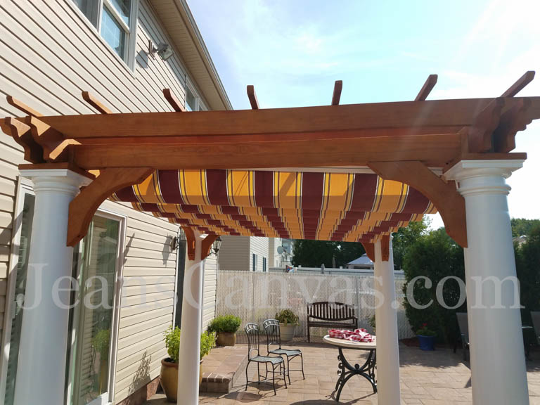 custom pergola canvas canopy 2