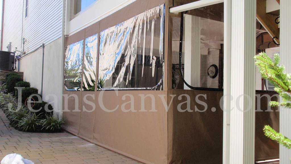 8 outdoor canvas clear vinyl enclosure